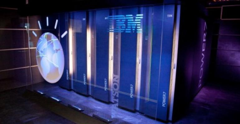 IBM's 'Watson' computing system at a press conference in Yorktown Heights, New York, 2011.