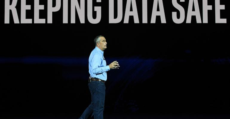 Intel CEO Brian Krzanich delivers a keynote address at CES 2018