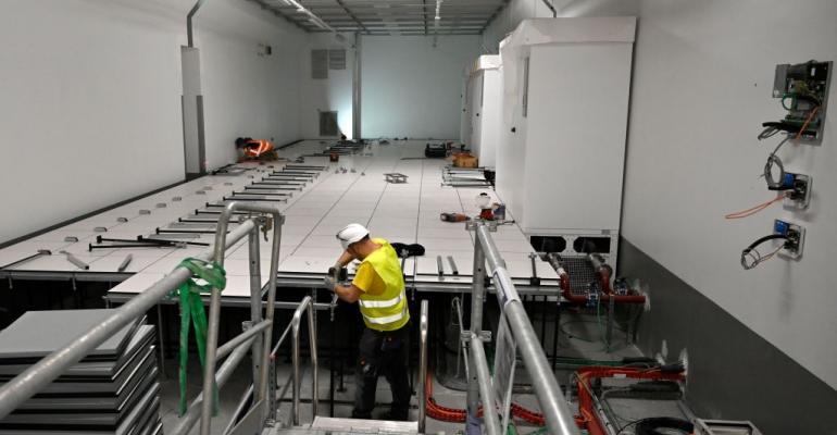 Interxion's MRS3 data center under construction in Marseille