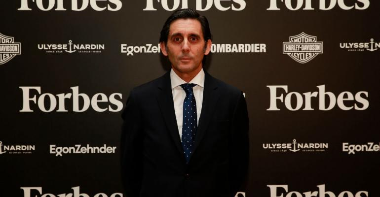 Telefonica CEO Jose Maria Alvarez-Pallete received an 'Forbes CEO 2016' award in 2017 in Madrid