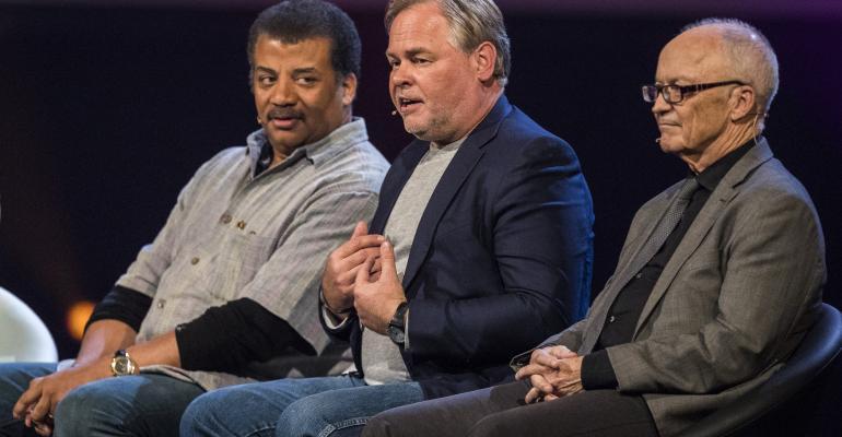 Neil deGrasse Tyson, Eugene Kaspersky (CEO of Kaspersky Lab), Finn Kydland, Starmus Festival 2017, Norway