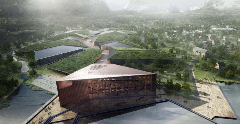 Planned data center rendering