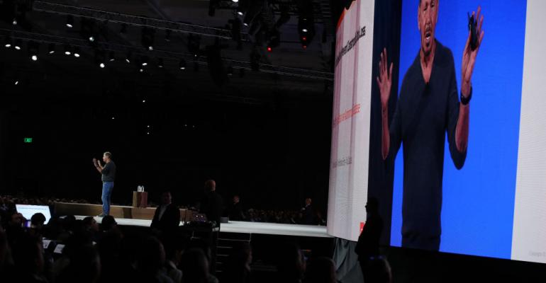 Larry Ellison, Oracle co-founder, chairman, and CTO speaking at Oracle OpenWorld 2019 in San Francisco
