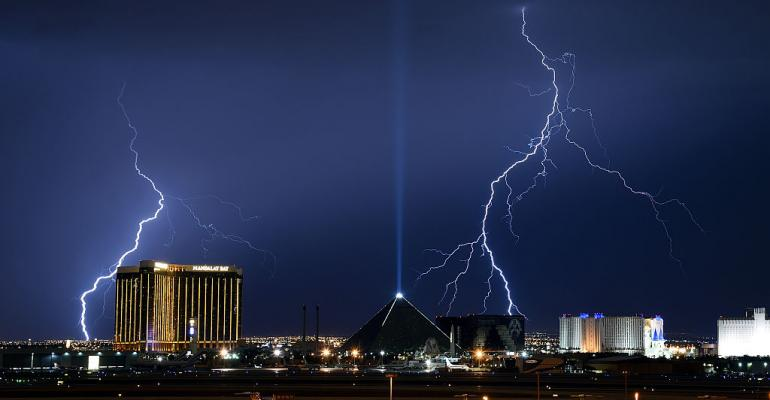 Lightning storm in Las Vegas in 2016