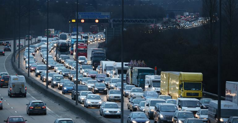 m-25 motorway east london 2013