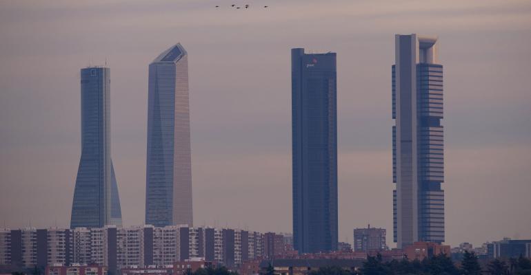Madrid skyline, 2013