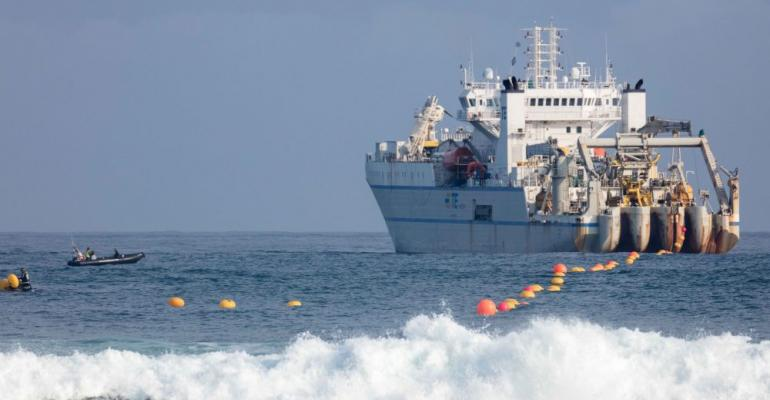 Installation of the Marea cable begins