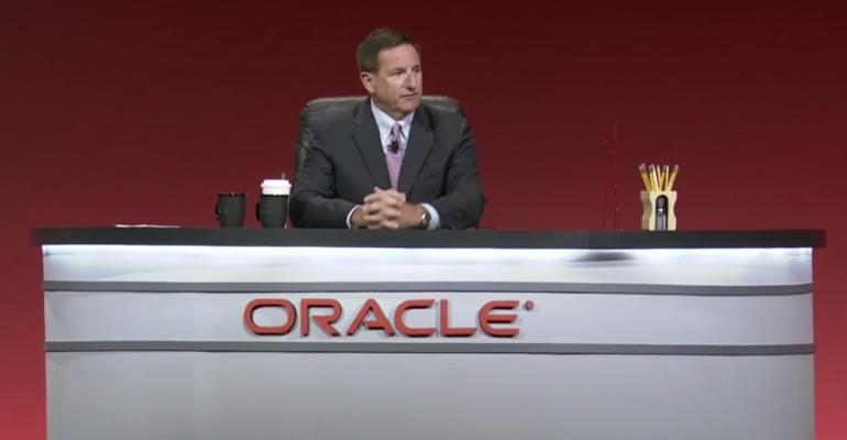 Mark Hurd, co-CEO, Oracle, speaking at Oracle OpenWorld 2017 in San Francisco