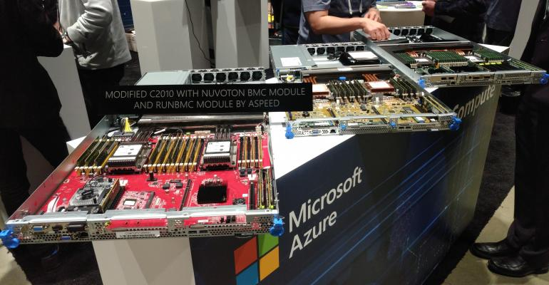 Microsoft Azure hardware on display at the OCP Summit 2019