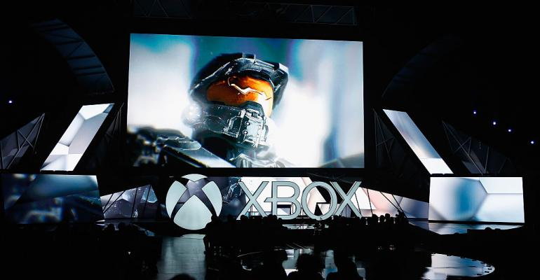 """Halo"" displayed during the Microsoft Xbox E3 press conference in 2015 in Los Angeles"