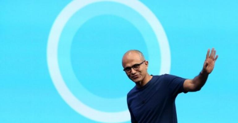 Microsoft CEO Satya Nadella at the 2014 Microsoft Build developer conference in San Francisco