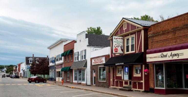 Downtown Millinocket, Maine, in September 2020