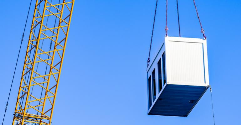 crane moving storage unit
