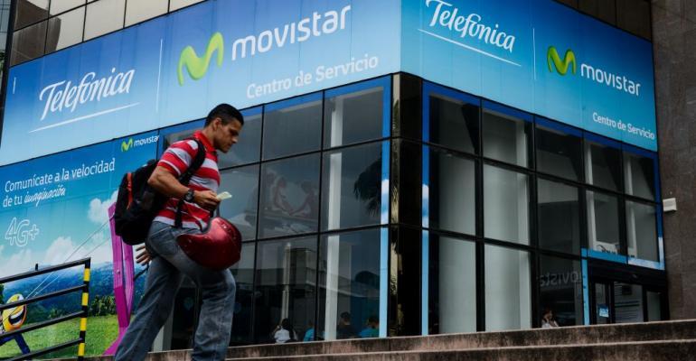 A Movistar service center in Caracas, Venezuela, in 2017
