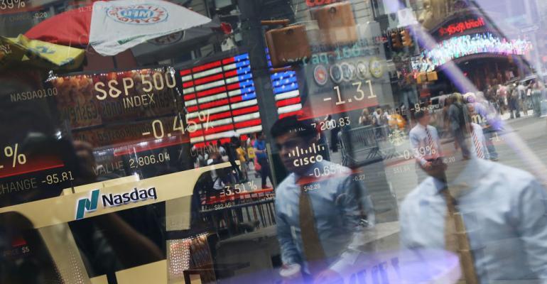 Nasdaq MarketSite window, New York City