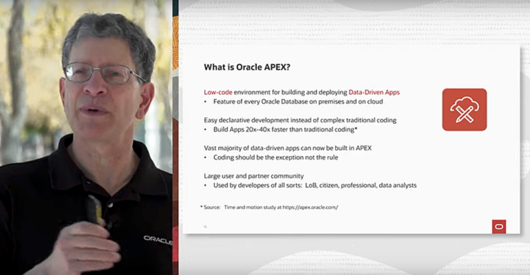 Oracle VP Andrew Mendelsohn and APEX