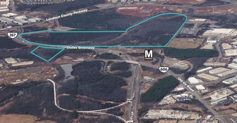The 281-acre site in Loudoun County, Virginia, in the process of being acquired by QTS.