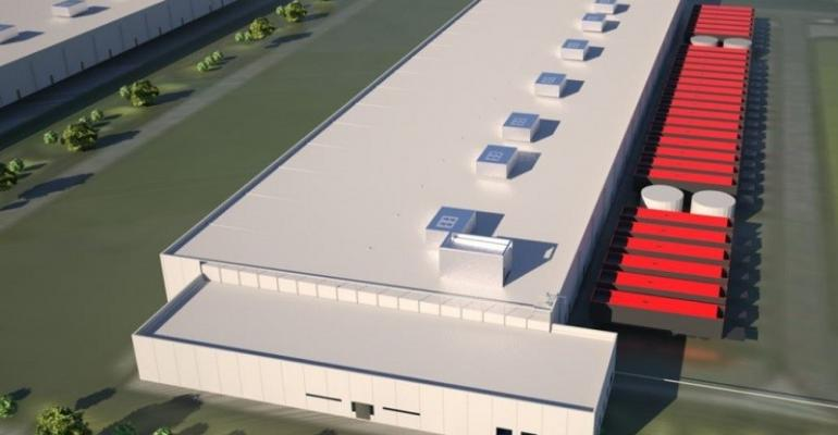 Rendering of QTS's future data center in Manasas, Virginia, using the company's Optimus design