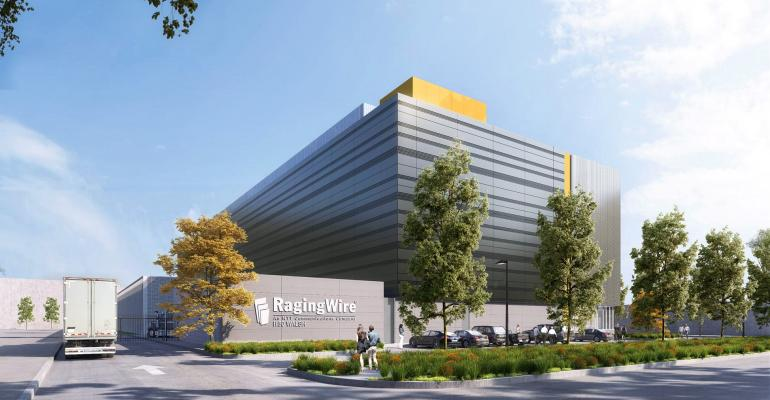 Rendering of RagingWire's future SV1 data center in Santa Clara, California, scheduled for launch in 2020.