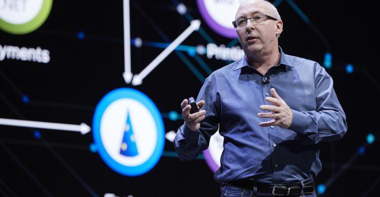 Ray O'Farrell, VMware, speaking at VMworld 2019 in Barcelona