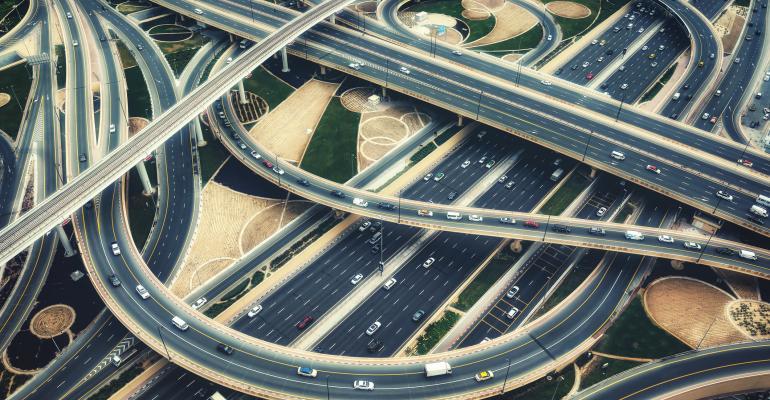 Highway interchange, Dubai