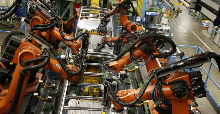 robots in assembly line