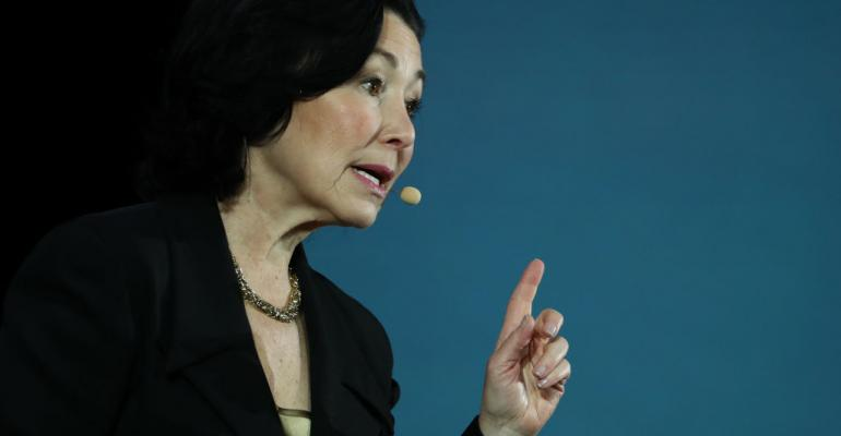 Oracle CEO Safra Catz speaking at Oracle OpenWorld 2019 in San Francisco