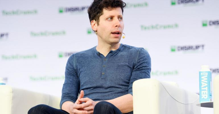 OpenAI Co-Founder and CEO Sam Altman speaks onstage during TechCrunch Disrupt San Francisco 2019.