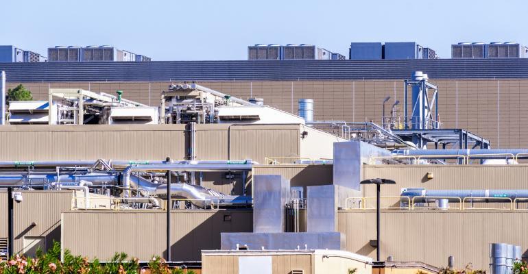 Exterior of a Silicon Valley data center
