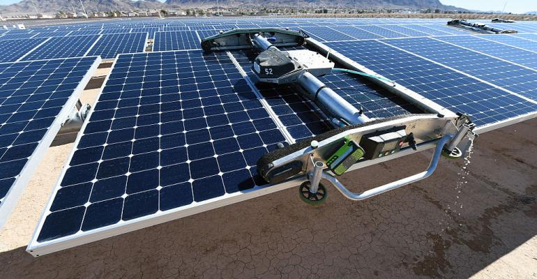 A solar array in Las Vegas