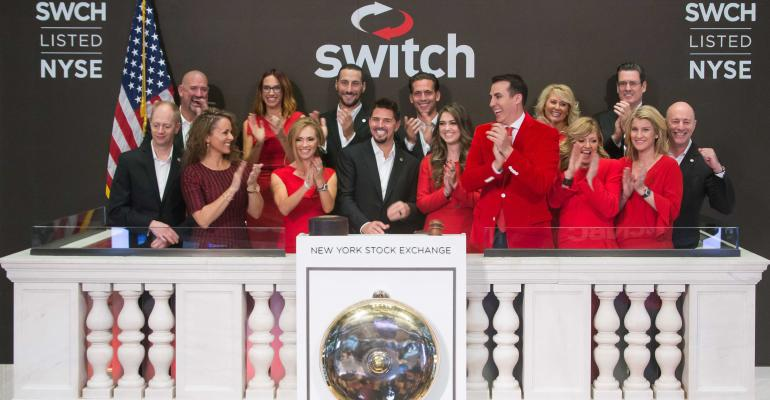 Colleagues and family join Switch founder and CEO at NYSE on IPO day