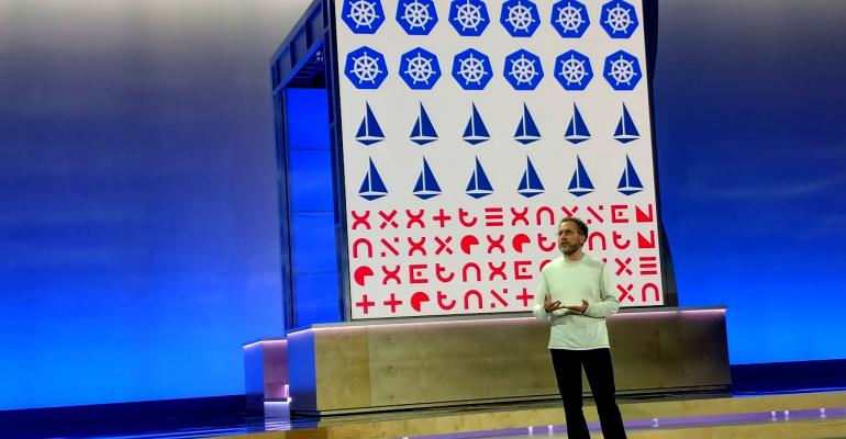 Urs Hölzle, Google's senior VP of technical infrastructure, speaking at Google Cloud Next '18