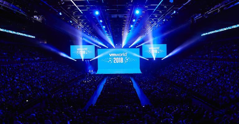 Keynote audience at VMworld 2018 in Las Vegas