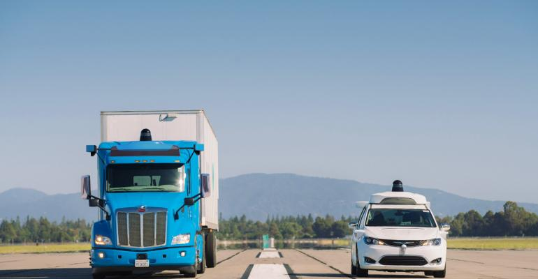 Waymo self-driving truck and van