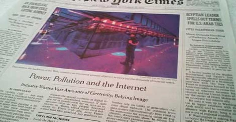 NY Times: Data Centers Acting as 'Wildcat Power Utilities'