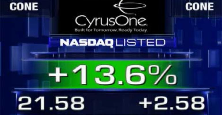 CyrusOne Completes IPO, Shares Trade Higher on NASDAQ
