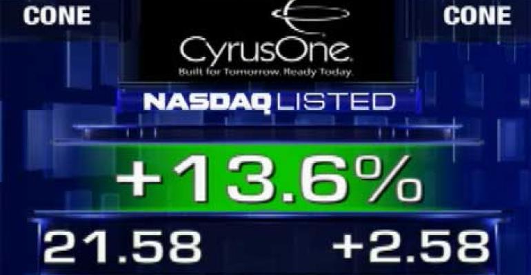 CyrusOne Completes IPO, Shares Trade Higher on NASDAQ