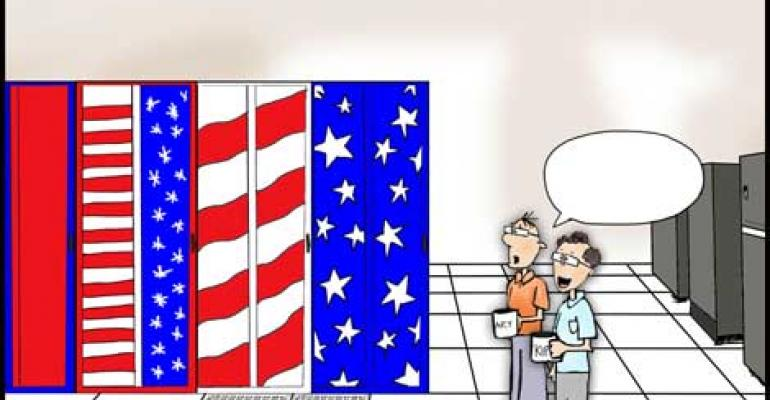 "What's the Best Caption for ""Star Spangled Cabinets"" Cartoon?"
