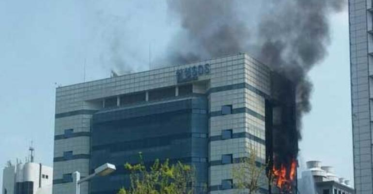Data Center Fire Leads to Outage for Samsung Devices