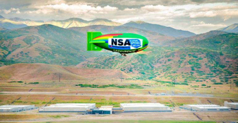 Video: Activist Blimp's July 4th NSA Data Center Flyover