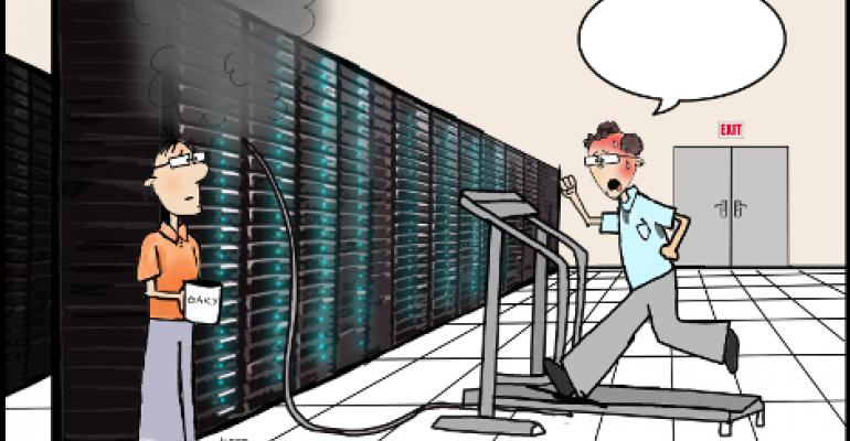 Friday Funny: Pick a Caption for Data Center Treadmill
