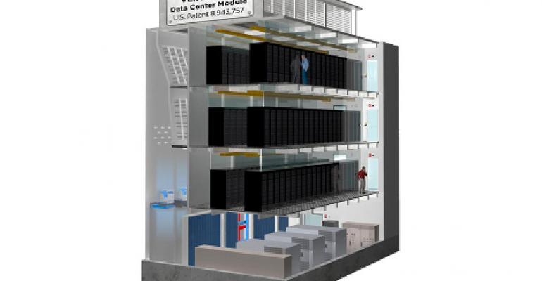 Startup Patents Multi-Story Modular Data Center Design