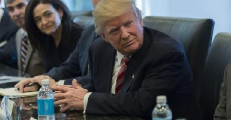 Trump Tries to Soothe Tech Chiefs With Pledge He's an Ally