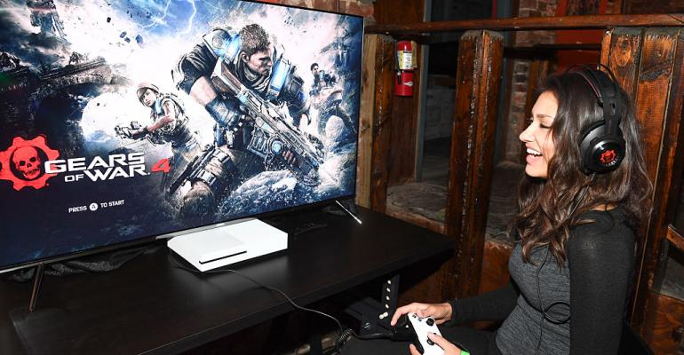 Actress Janina Gavankar attends the Xbox and Gears Of War 4 launch event in Atlanta in 2016
