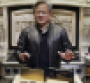 Nvidia CEO Jensen Huang, delivering the GTC 2020 keynote from his kitchen.
