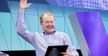 John Chambers, former CEO of Cisco, speaking at a conference in Paris in 2017