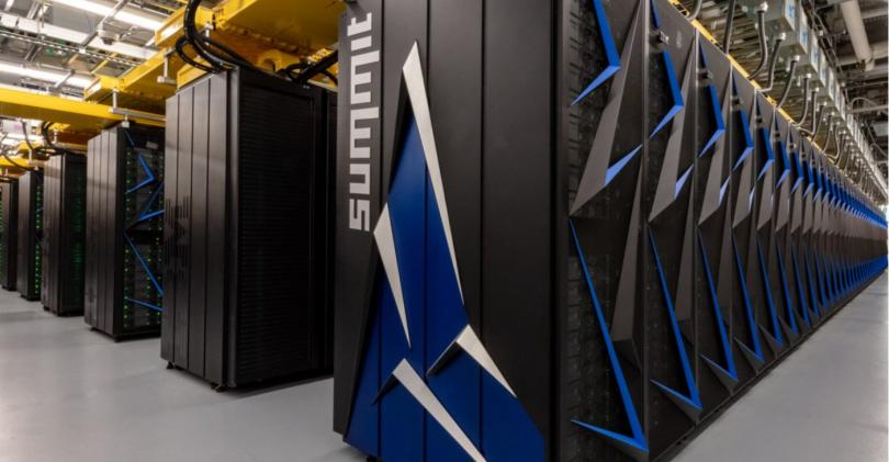 The Summit supercomputer at ORNL, designed by IBM and Nvidia.