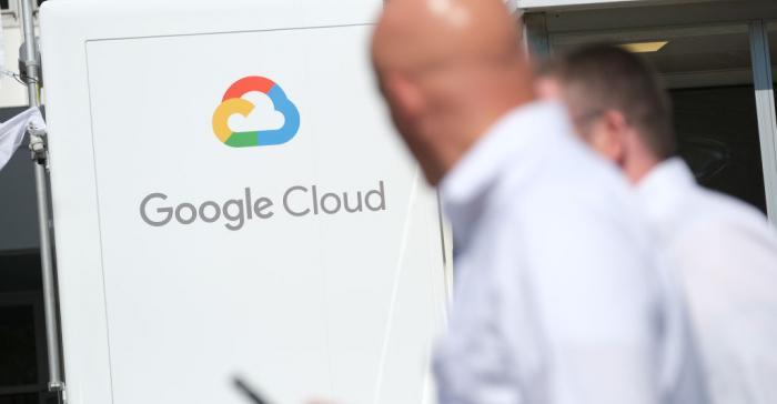 Google Cloud exhibit at the 2019 IAA Frankfurt Auto Show in September 2019