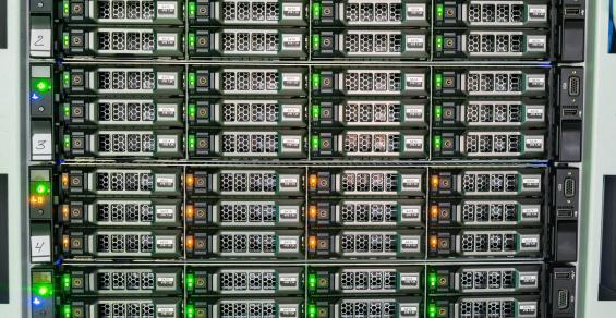Storage servers closeup