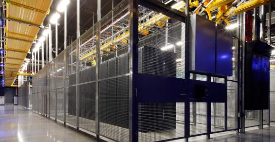 Inside the Equinix DC12 data center in Ashburn, Virginia